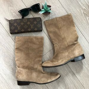 Dolce Vita leather flat boots